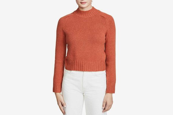 Vince Women's Cashmere Shrunken Mock Neck Sweater