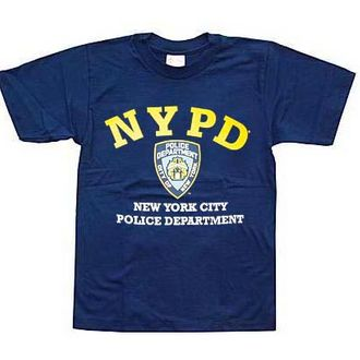 3dd7f074a Right next to all the crude T-shirts in every New York City gift shop,  there is merchandise emblazoned with the NYPD logo — hats, mugs, baby-doll  tees, ...
