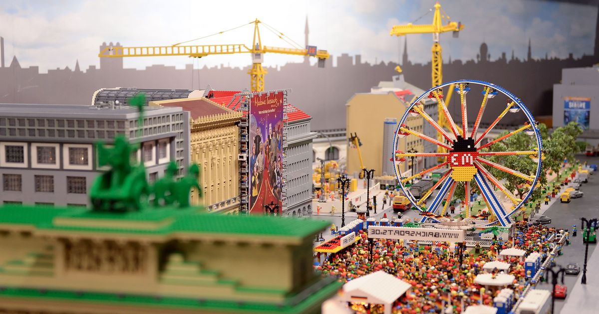 View of the reproduction of the Berlin fan fest for the European Soccer Championship 2016 at Legoland Discovery Centre in Berlin, Germany, 7 June 2016. Photo by: Britta Pedersen/picture-alliance/dpa/AP Images