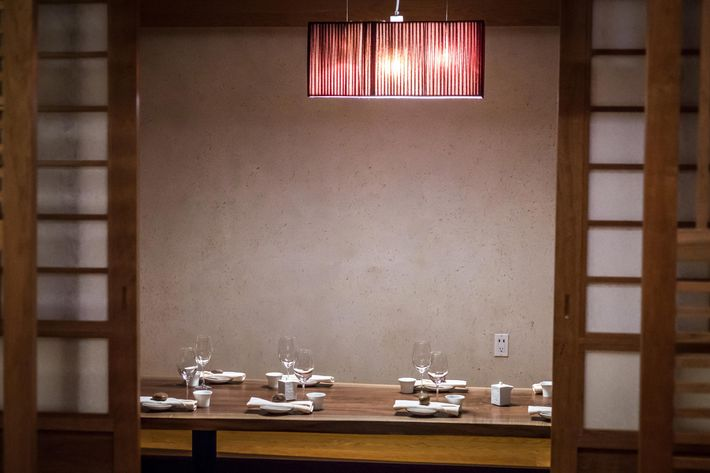 There are tables that offer more privacy.