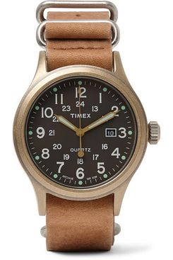 Timex Allied Stainless Steel And Stonewashed Leather Watch