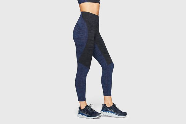 Outdoor Voices TechSweat 3/4 Two-Tone Leggings (Baltic/Night)