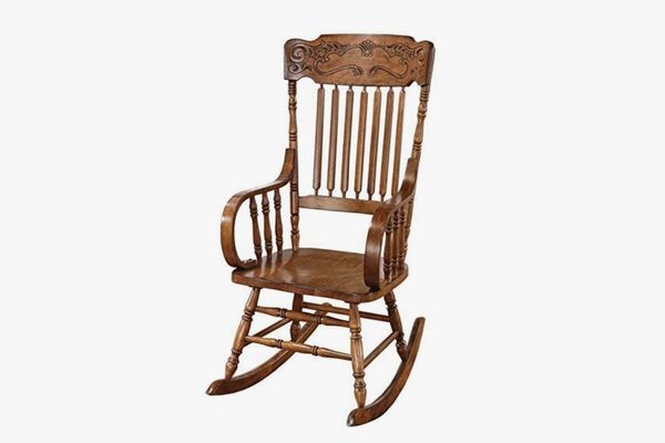Rocking Chair with Ornamental Headrest