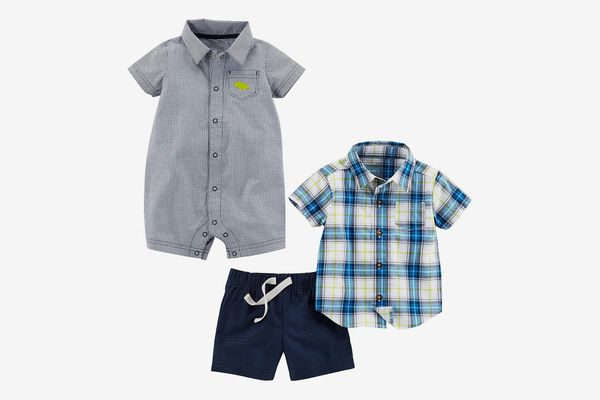 Simple Joys by Carter's Baby Boys' 3-Piece Fleece Playwear Set-Romper, Shorts, and Shirt