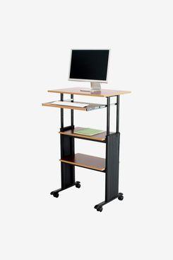 Bureau debout avec étagère pour clavier Safco Products