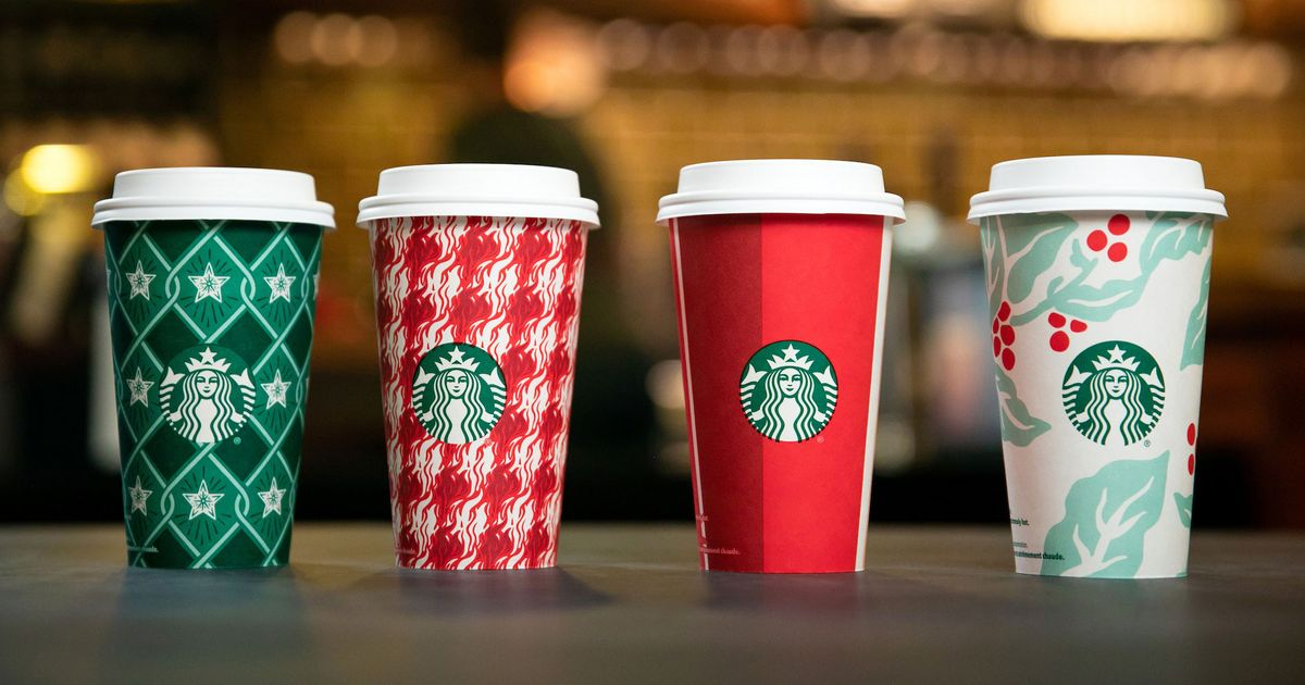 Starbucks Christmas Cups.Starbucks S New Holiday Cups Are Extra Christmassy