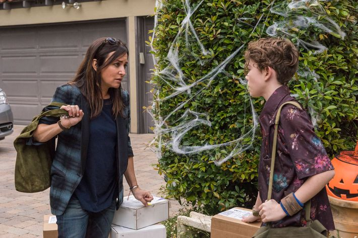 "BETTER THINGS ""Scary Fun"" Episode 8 (Airs Thursday, October 27, 10:00 pm/ep) -- Pictured: (l-r) Pamela Adlon as Sam Fox, Hannah Alligood as Frankie. CR: Prashant Gupta/FX"