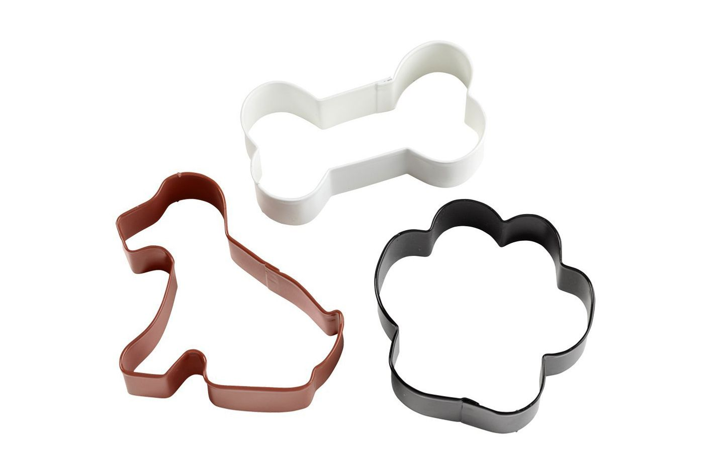 Wilton 2308-0246 Dog, Bone and Paw Print Cookie Cutter, Set of 3