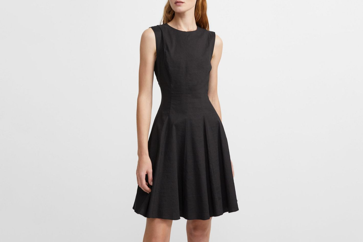 Theory Good Linen Sleeveless Peplum Dress