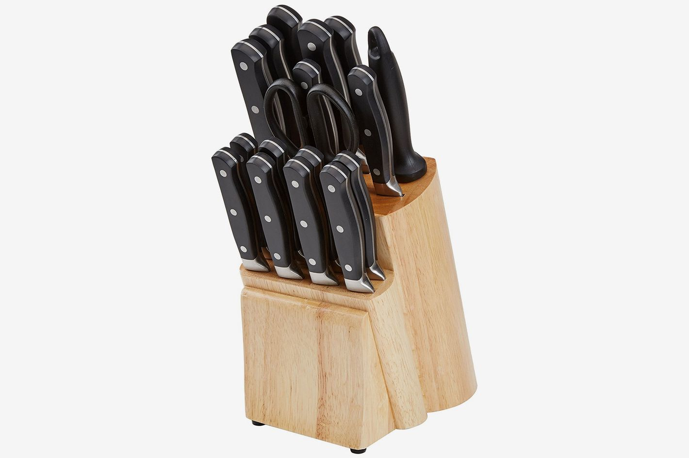 17 best kitchen knife sets and reviews 2018 amazonbasics premium 18 piece knife block set teraionfo