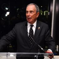 NEW YORK, NY - DECEMBER 12:  New York City Mayor Michael Bloomberg speaks during the Empire State Pride Agenda event hosted by Emporio Armani on December 12, 2011 in New York City.  (Photo by Neilson Barnard/Getty Images for Giorgio Armani)