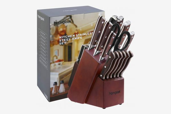 Homgeek Kitchen Knife Set, 15-Piece