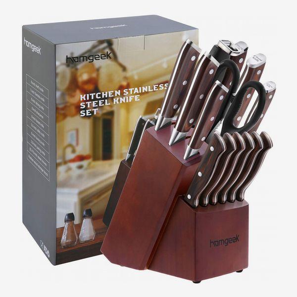 Homgeek Kitchen Knife Set, 15-Piece