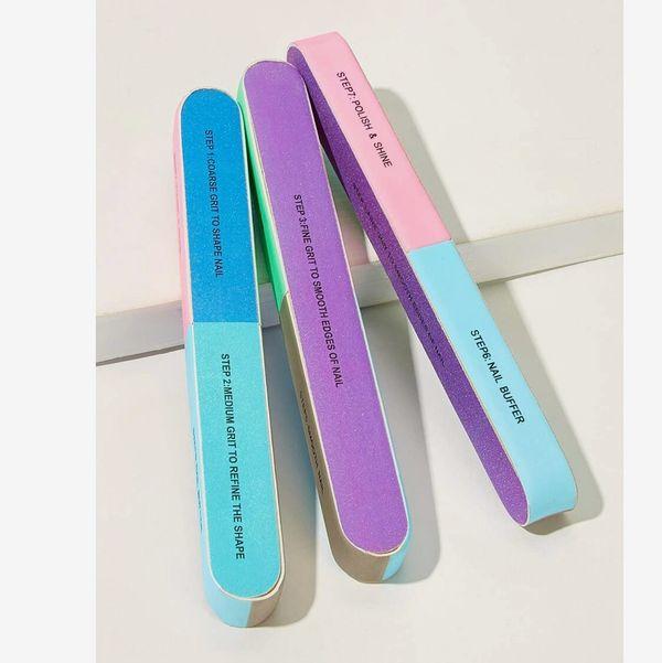 Colorblock Nail File 3pack
