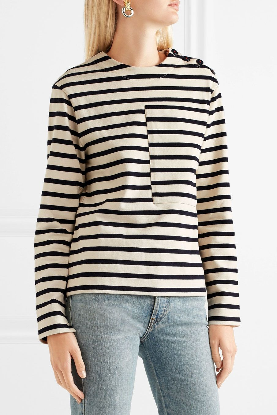 Joseph Breton Striped Cotton-Jersey Sweatshirt