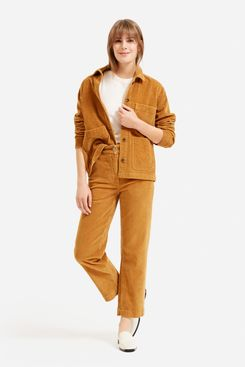 Everlane Corduroy Straight-Leg Crop