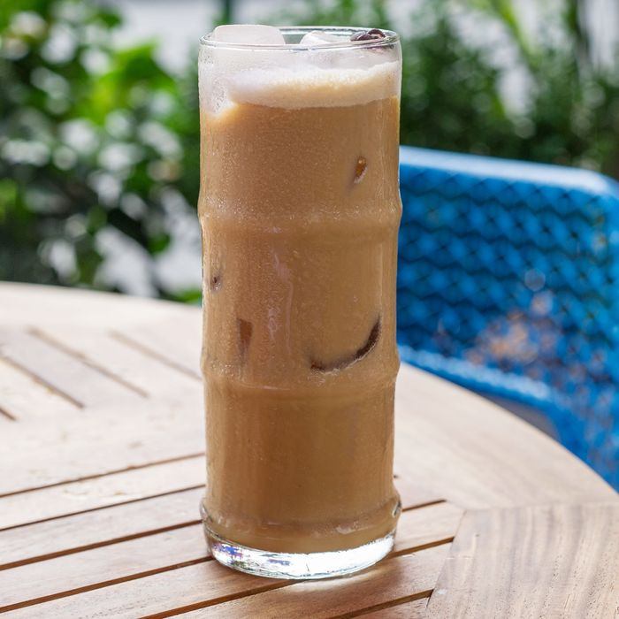 This drink at Santina includes cold brew, espresso, and housemade coconut cream.