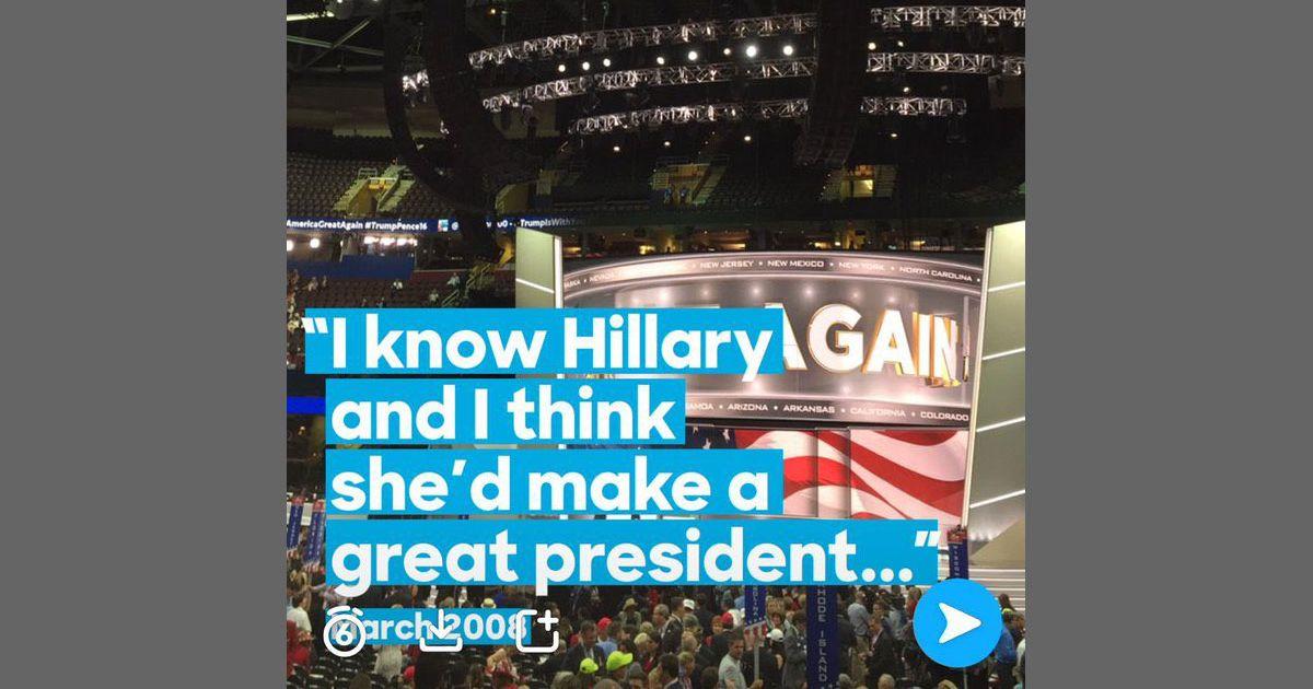 Hillary clinton trump rnc snapchat filter