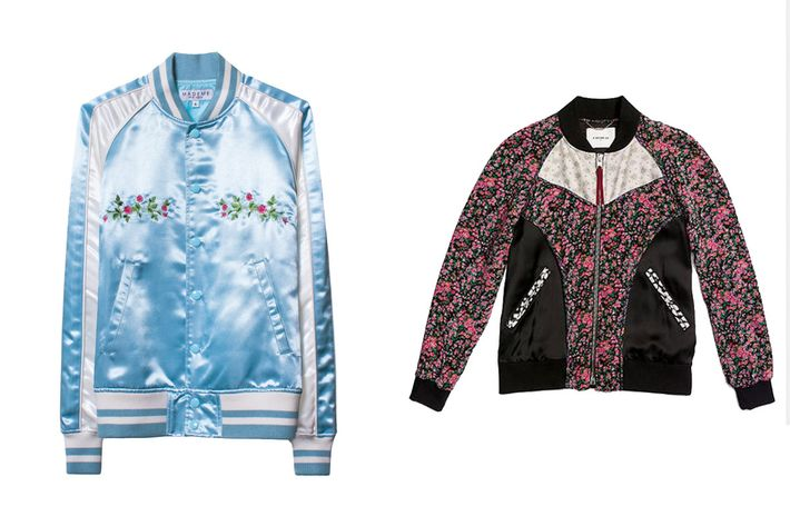 """688c7e973da MadeMe s powder-blue satin bomber is the type of jacket you d anticipate  taking over your Instagram feed. With """"pretty on the outside"""" embroidered  on the ..."""