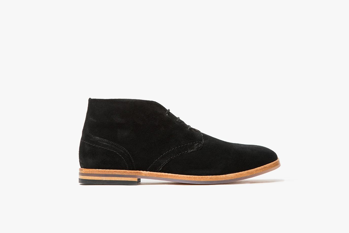 H by Hudson Black Suede Desert Boots