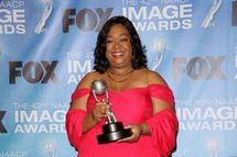 LOS ANGELES, CA - MARCH 04:  Writer Shonda Rhimes, winner of the award for Outstanding Writing in a Dramatic Series for 'Private Practice', poses in the press room at the 42nd NAACP Image Awards held at The Shrine Auditorium on March 4, 2011 in Los Angeles, California.  (Photo by Jason Merritt/Getty Images) *** Local Caption *** Shonda Rhimes
