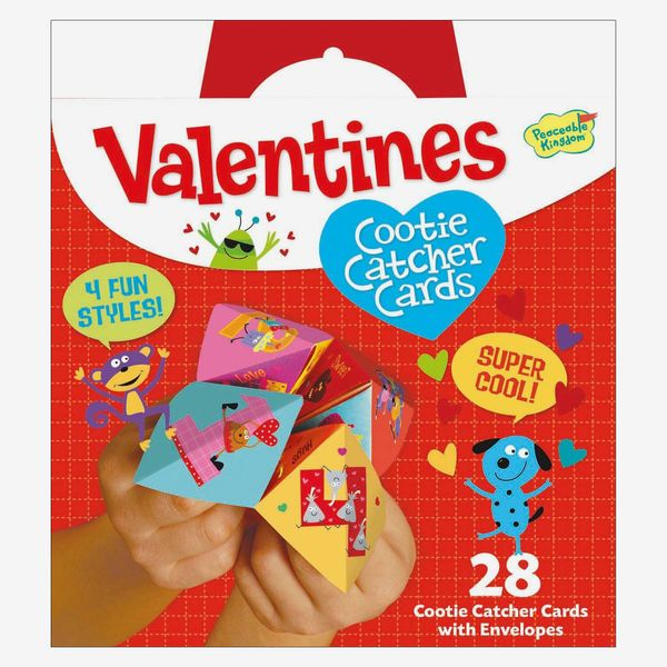 Peaceable Kingdom Cootie Catcher Valentines (28-Pack)
