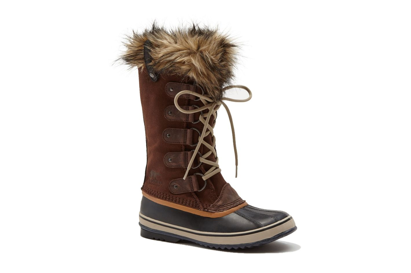 Sorel Joan of Arctic Faux-Fur-Trimmed Suede & Leather Lace-Up Boots