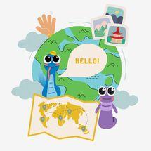 BümoBrain Foreign Language Program Monthly Subscription, Ages 3–9