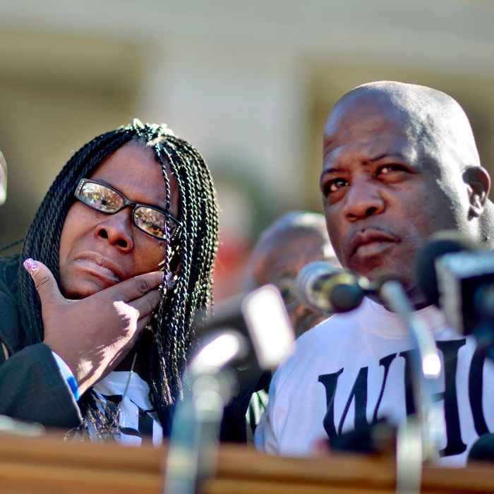 Jacquelyn and Kenneth Johnson, parents of Kendrick Johnson, who was found dead in a rolled-up gym mat in 2013.