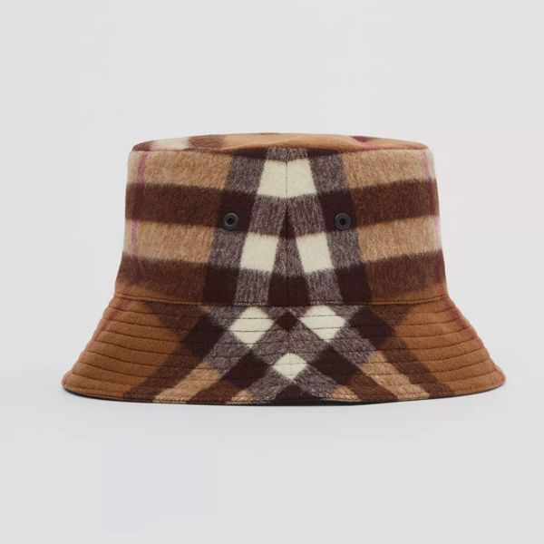 Burberry Check Wool Bucket Hat