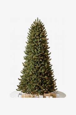 Balsam Hill Artificial LED Light Vermont White Spruce Narrow Tree (6.5 ft)