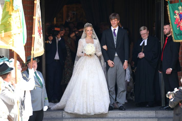 Prince Ernst-August Jr. and Ekaterina Malysheva at their wedding.