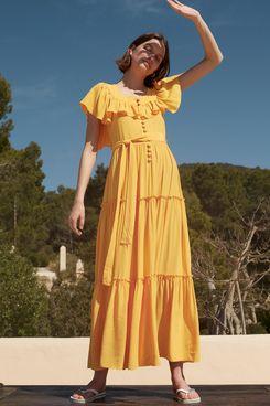 Kitri Carida Saffron Maxi Dress