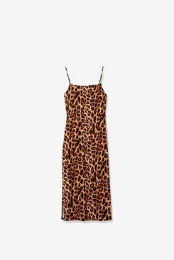 Wild Meadow Women's Spaghetti Strap Bib Front U Back Knit Midi Dress