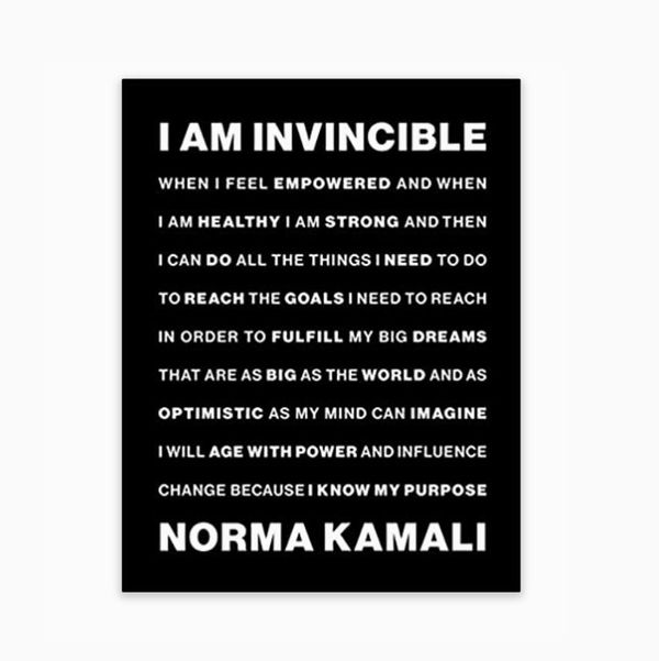I Am Invincibleby Norma Kamali