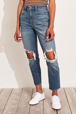 Hollister Vintage Stretch Ultra High-Rise Mom Jeans