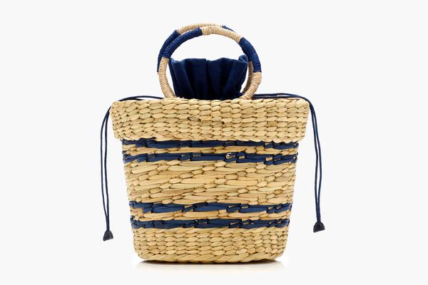 Poolside X J.Crew Striped Mak Beach Tote