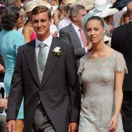 Prince Pierre Casiraghi arrives with girlfriend Countess Beatrice Borromeo for the religious wedding of Prince Albert II of Monaco and Princess Charlene of Monaco at the Prince's Palace on July 2, 2011 in Monaco.  AFP PHOTO / DAMIEN MEYER (Photo credit should read DAMIEN MEYER/AFP/Getty Images)