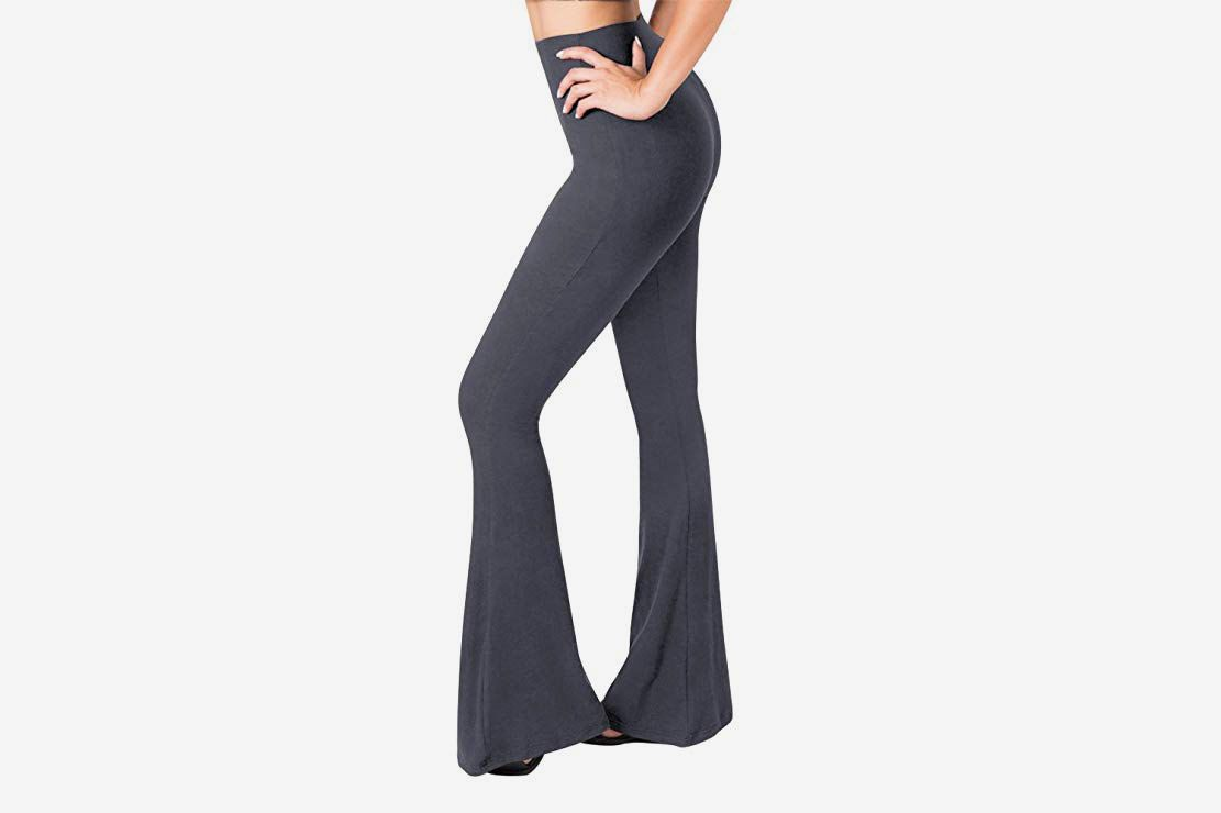 Sejora Satina High Waisted Flare Palazzo Wide Leg Pants