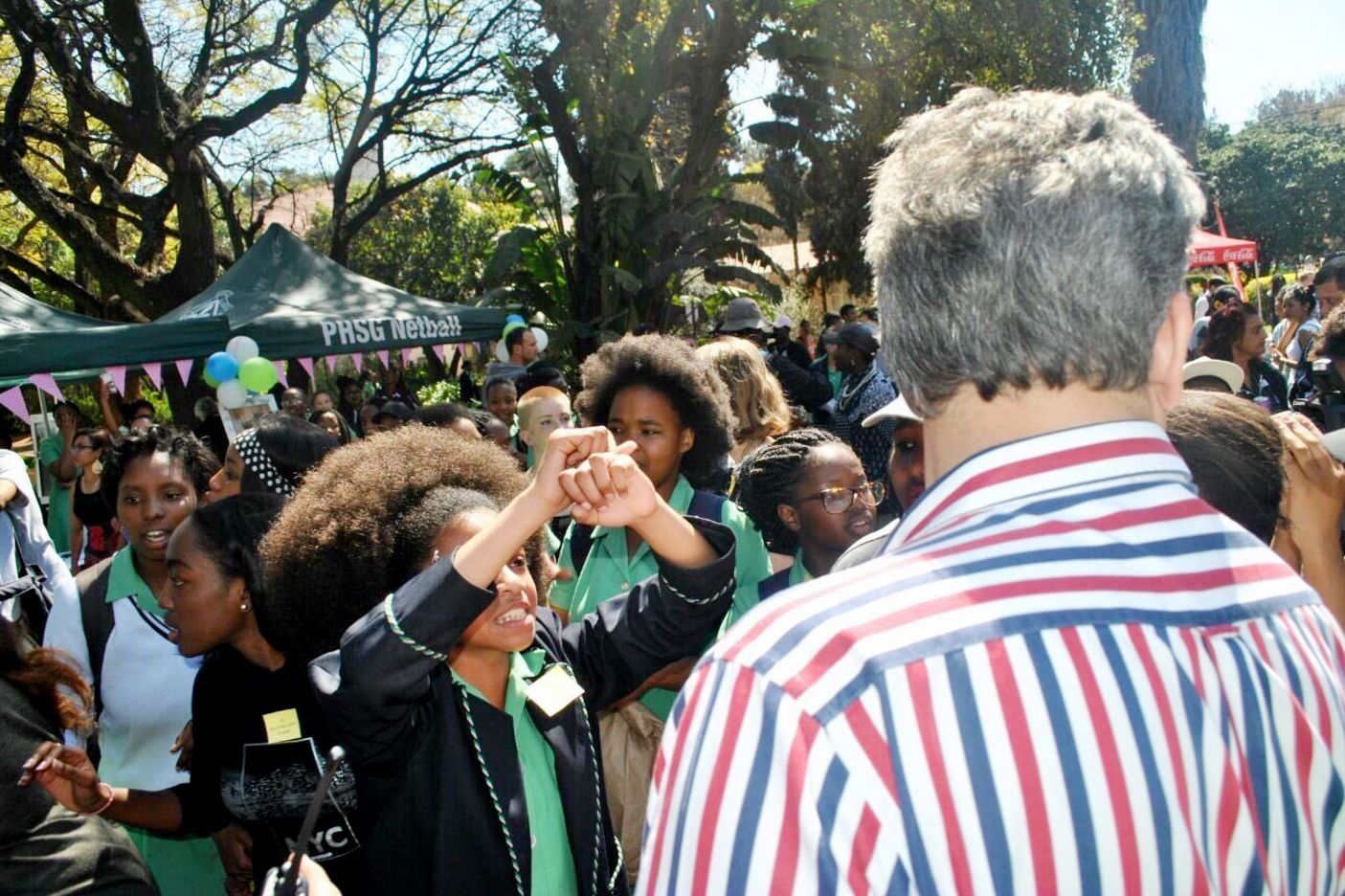 Pretoria Girls' High pupils tell MEC Lesufi they are frustrated