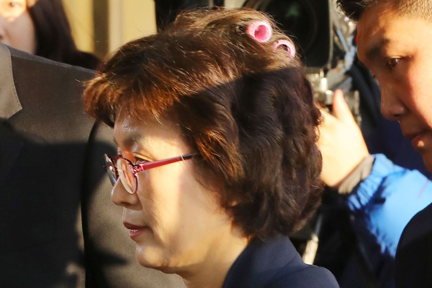 Korean Judge Lee Jung mi Wears Hair Rollers to Court