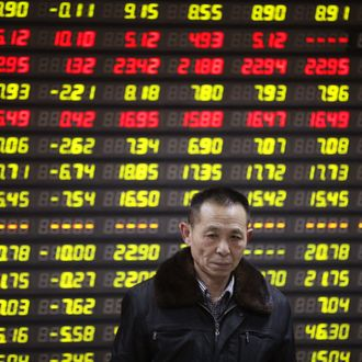 Chinese stocks plunged deeper into negative territory Monday
