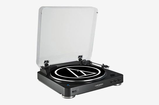Audio-Technica AT-LP60BK-BT Fully Automatic Bluetooth Wireless Belt-Drive Stereo Turntable, Black