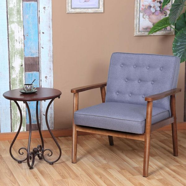 Zimtown Mid-Century Retro Upholstered Tufted Chair
