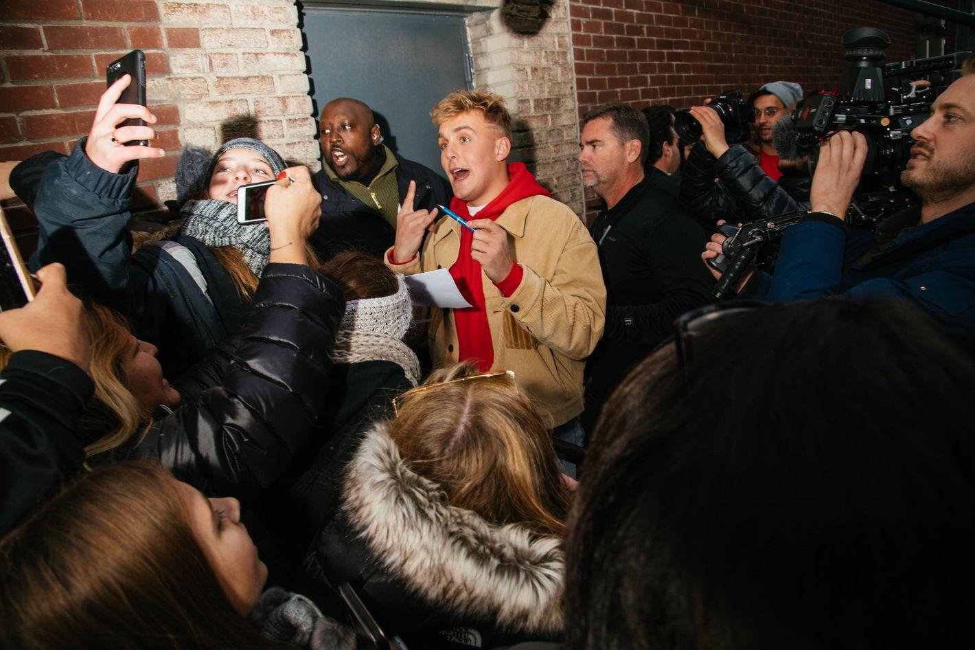 Jake Paul Hosts Pop Up Shop In New York City