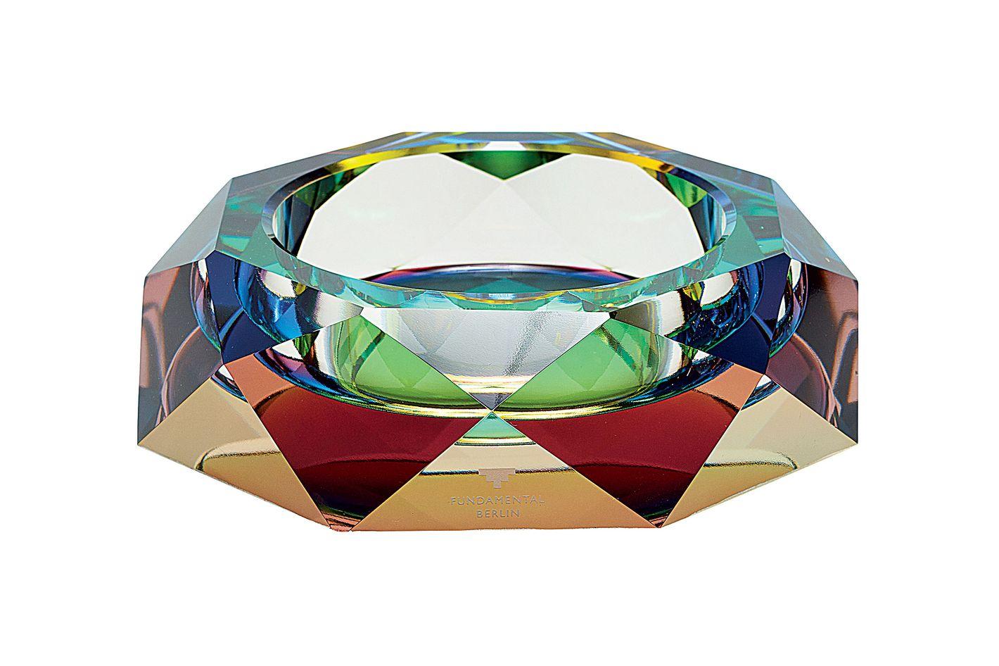 Iridescent Crystal Ashtray