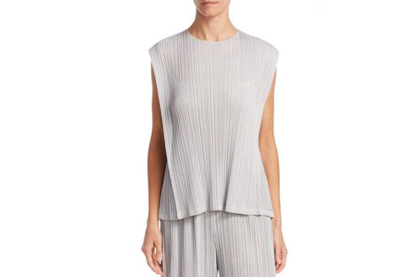 Pleats Please Issey Miyake Crewneck Mellow Pleated Top