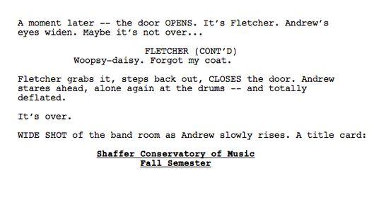 toughest scene i wrote on whiplash's 1st scene  vulture