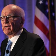 SAN FRANCISCO, CA - OCTOBER 14:  News Corp. CEO Rupert Murdoch delivers a keynote address at the National Summit on Education Reform on October 14, 2011 in San Francisco, California.  Rupert Murdoch was the keynote speaker at the two-day National Summit on Education Reform.  (Photo by Justin Sullivan/Getty Images)