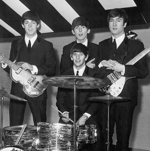 The Beatles 15th December 1963. Paul McCartney, Ringo Starr, George Harrison, John Lennon at Alpha Television Studios, Aston, Birmingham TBC